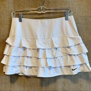 Nike White Tennis Tiered Ruffle Skirt, Small 4-6